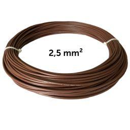 Vodič hnědý 2,5 mm², návin 25 m