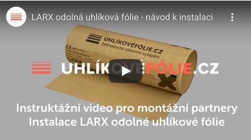 Instalace LARX odolné uhlíkové fólie 150 W/m²